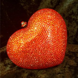 Coco Bont Abendtasche Red Heart